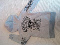 ヒスミニ 袖のスカル(≧Д≦)かっこいいパーカー 2回位着用美品