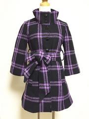 [GOLDSinfinity]◆[八分袖]コート・黒色×紫色・サイズM◆