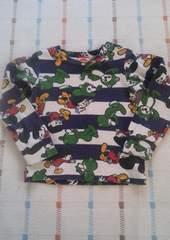 コンベックス♪ネイビーボーダー長袖シャツ♪90�p
