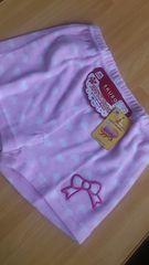 新品即決可愛いハート柄ピンク1分丈スパッツブルマオーバーパンツ