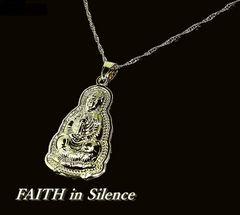 静かなる信仰の存在感/観音菩薩/ゴールド色/ネックレス/開運/両面/pnm10