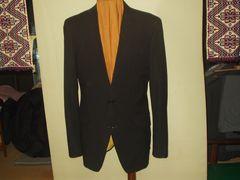 スーパー120イタリー素材使用 A7impressiveスーツの上 紺