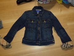 バーバリーブルーレーベル デニムジャケット Gジャン 38サイズ