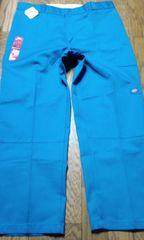 Dickiesディッキーズ ワークパンツ ロイヤルブルー青 サイズW42×32 ダブルニー