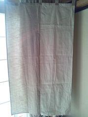ニトリ ナチュラルカラーオフホワイト×サンドベージュ2色のれん 暖簾