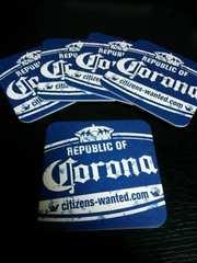 ■非売品Corona(コロナ)ロゴ入りコースター5枚セット送料込み■