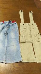 110cm 長ズボン/ジーパン 2点セット