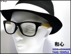 掛ける「和心」/竹製,ハンドメイド/ウェリントン/UVカット/伊達メガネ/ケース付/gdp11