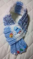 【\500送込処分セール】B43 手編み お家とロケット