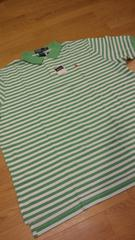 新品POLORALPH LAUREN ボーダーポロシャツ サイズXXL→3XL位 白緑