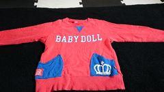 BABY DOLL★デカロゴトレーナー★120