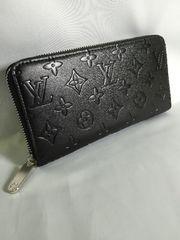 ルイヴィトン☆アンプラント黒ジッピ長財布☆美品☆ノベルティ