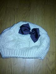 ◆新品未使用リボン付きベレー帽◆