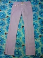 GLAMOROUS JEANS ラベンダー 薄紫 カラーパンツ カナリ美品 激安