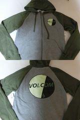 USA購入ボルコム【Volcom】裏起毛タイプ フルジップパーカーUS M