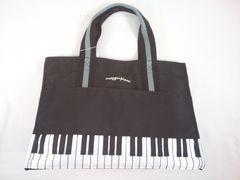値下げセールメゾピアノ帆布素材ピアノ鍵盤モチーフ軽量トートバッグ