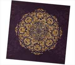三巾大判綿風呂敷ふろしき(テーブルクロス)濃紫地正倉院紋様日本製