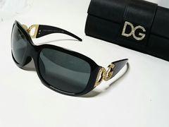 正規 DOLCE&GABBANA ドルチェ&ガッバーナ D&Gロゴサングラス黒×石 ドルガバ