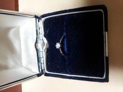 0.323カラット pt900 ダイヤモンドリング
