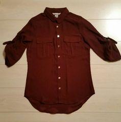 ●H&M●ボルドーシャツ/size32