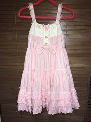 Angelic Pretty ブロードジェラートジャンパースカート ピンク