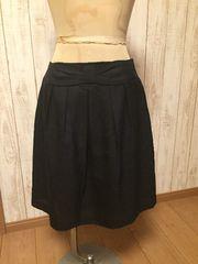 ロペピクニック台形スカート スリムに見える ブラック