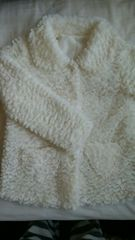 もふもふコート ポケットハート型 美品 150