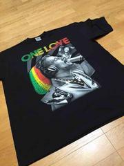 LA直輸入one loveレゲエボブマリーサイズ2XL 黒z�L Tシャツ