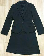 リクルートスーツ レディース スカート ブラック 黒 美品