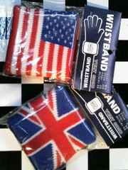 新品◆リストバンド◆2個セット◆UK柄+USA柄◆