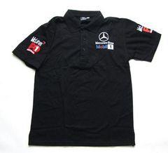 期間限定送料込み ベンツ ロゴポロシャツ黒 XL