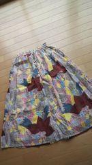 アジアンカラフルドットスカート新品タグツキサイズM〜3L
