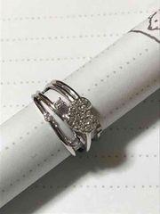 14kwgリング 指輪 ダイヤ0.19