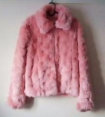 美品・フェイクファーのショートコート ピンク