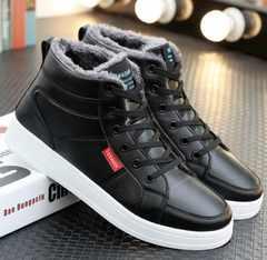 メンズ靴 ブーツ ブラック PU皮 適切サイズ27.5〜28cm