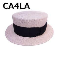 新品 CA4LA カシラ good old days カンカン帽 M オフホワイト×黒★dot