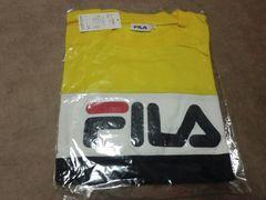 FILA 長袖Tシャツ フィラ 黄色×紺 Mサイズ 新品