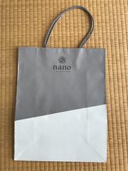 nano・universe★ナノ・ユニバース ショッパー 紙袋 大