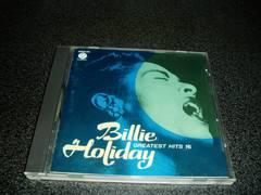 CD「ビリーホリディ/グレイティストヒット16」Billie Holiday