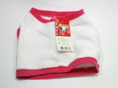 送円愛犬服ストレッチパイルTシャツレッドM赤RedDoggyWear15kg20kg