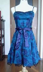 H&M★パリで購入★薔薇が舞う青色ワンピース