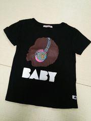 baby shoop◆kid's子供シュープアフロ&デカロゴTシャツ黒ダンス