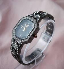 ラインストーンバングルウォッチGM-腕時計