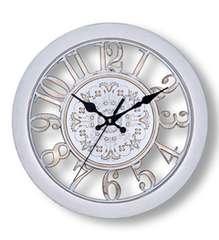 北欧風 掛け時計 レトロ アンティーク調 (白)