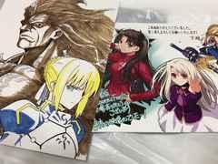 劇場版Fate/stay night 来場者特典  描き下ろしポストカード セイバー凛