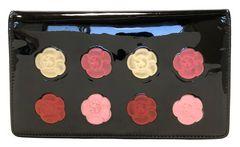 正規シャネル財布二つ折りメイクパレットココマークファスナー付長財布ブラックCHANEL