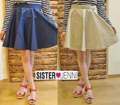 新品SISTER JENNIネイビースカート130センチ