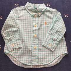 美品 ラルフローレン ベビーチェックシャツ 80 ギンガムチェック