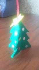 フェルト素材 クリスマスツリー形クリスマスリース ハンドメイド