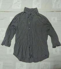 即決 improves七分袖シャツ S カーキ色